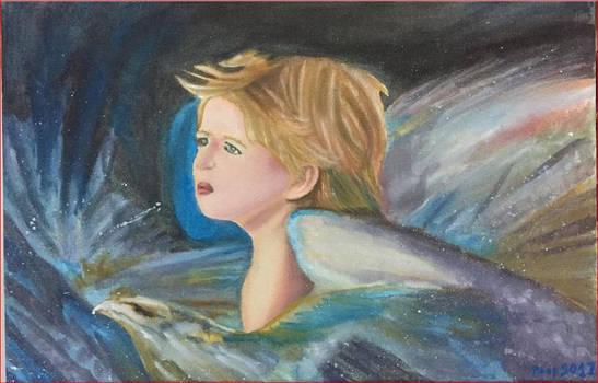 Painting Angel Boy