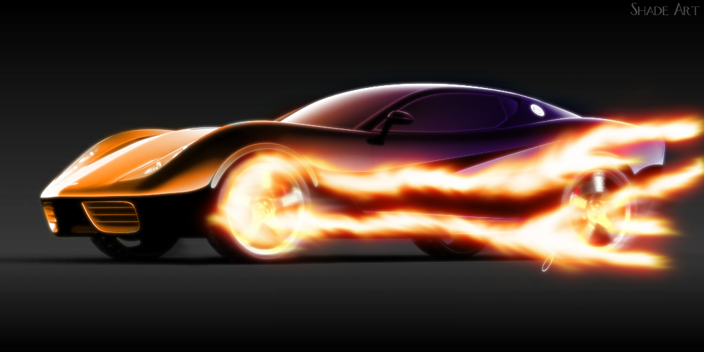 Fiery Corvette by Shade-EX