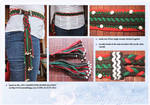 Knoted woolen belt with wooden beads