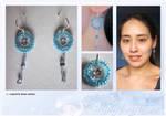 Frozen diamond dreamcatcher earrings