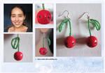 Cute cherry-earrings