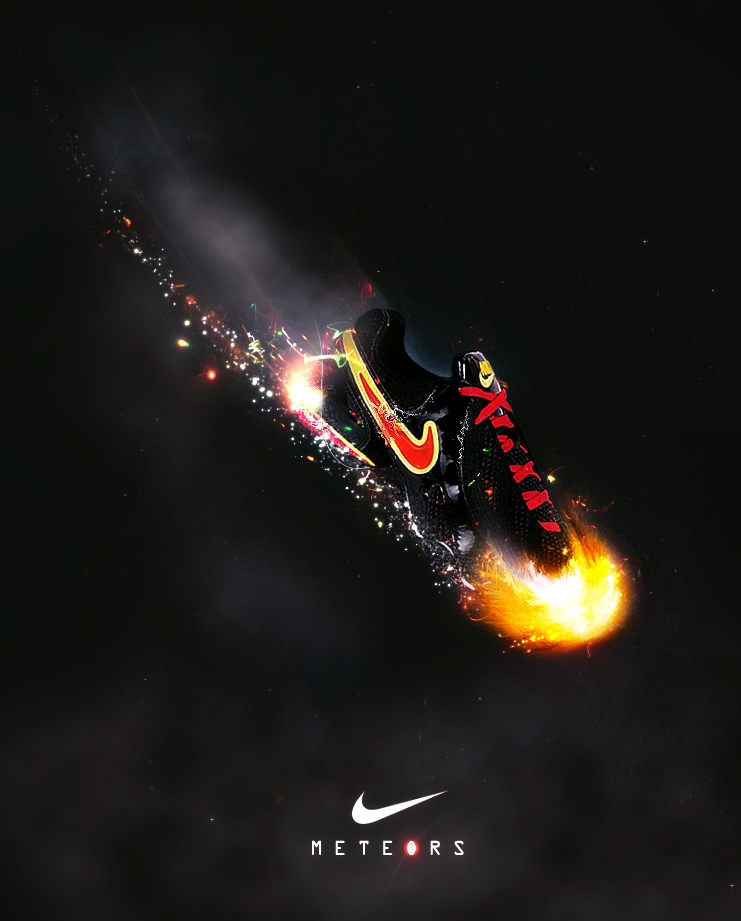 nike meteors ad concept