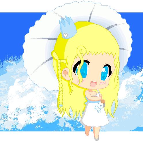 Princess and Clouds by gaarasbabe2000