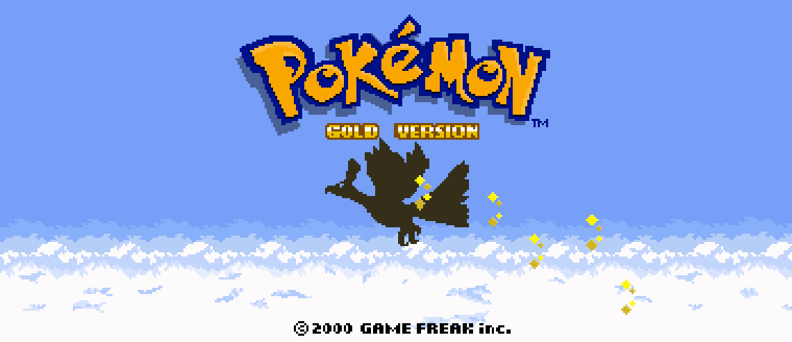 Pokemon Gold Title Screen HD by Tundrarich