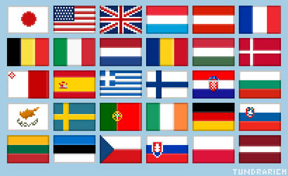 Pixel Art Flags by Tundrarich