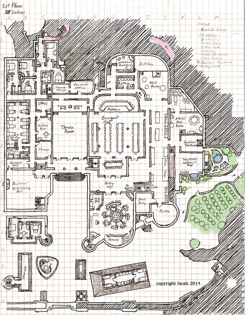 Pinnacle castle 1st floor layout by kayiscah on deviantart for Castle design plans
