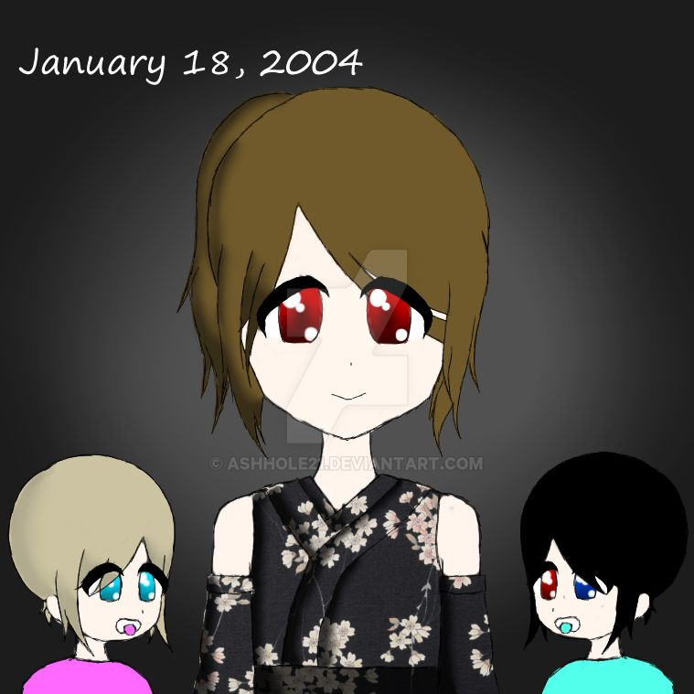 Ayano (right) and Angie (left) Baby Pic by AshHole21
