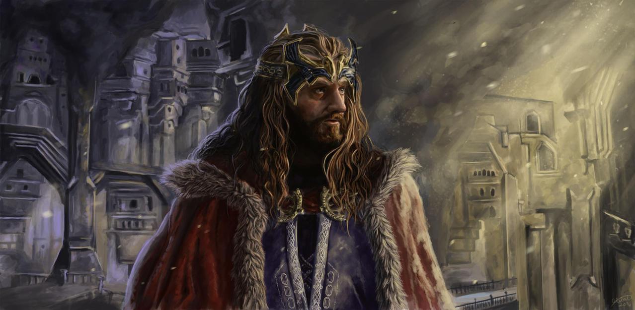dibujos - el Hobbit  impresionantes dibujos King_under_the_mountain_by_x_celebril_x-d7oatqd