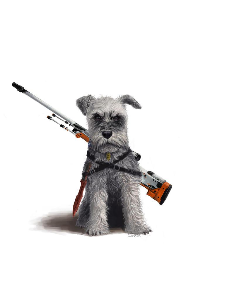 Commission - dog by x-Celebril-x