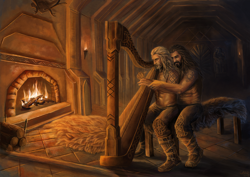 Thorin and Fili Commission by x-Celebril-x