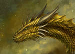 Golden Dragon Head Commission