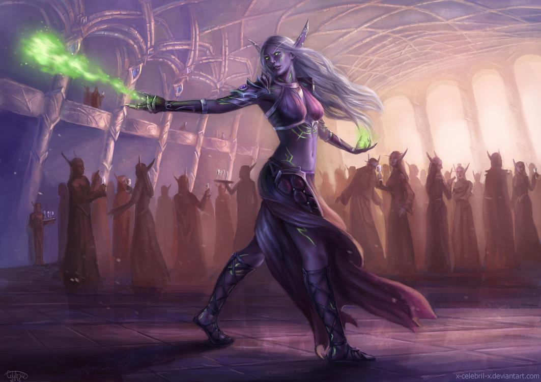 Nightborne Warlock Commission by x-Celebril-x