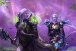 Teldrassil Runners Commission by x-Celebril-x