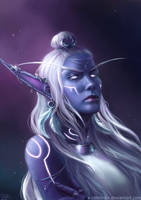 Nightborne Priestess Commission by x-Celebril-x