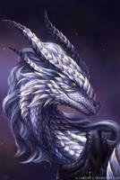 Dragon Portrait Commission by x-Celebril-x