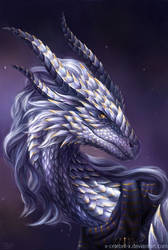 Dragon Portrait Commission by x-Celebril-x