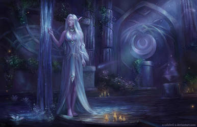 Temple of Elune Commission by x-Celebril-x