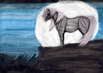 At the moonlight by hamano-kumiko