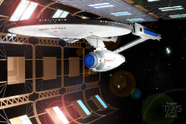 U.S.S. Enterprise NCC-1701 by TrekkieGal