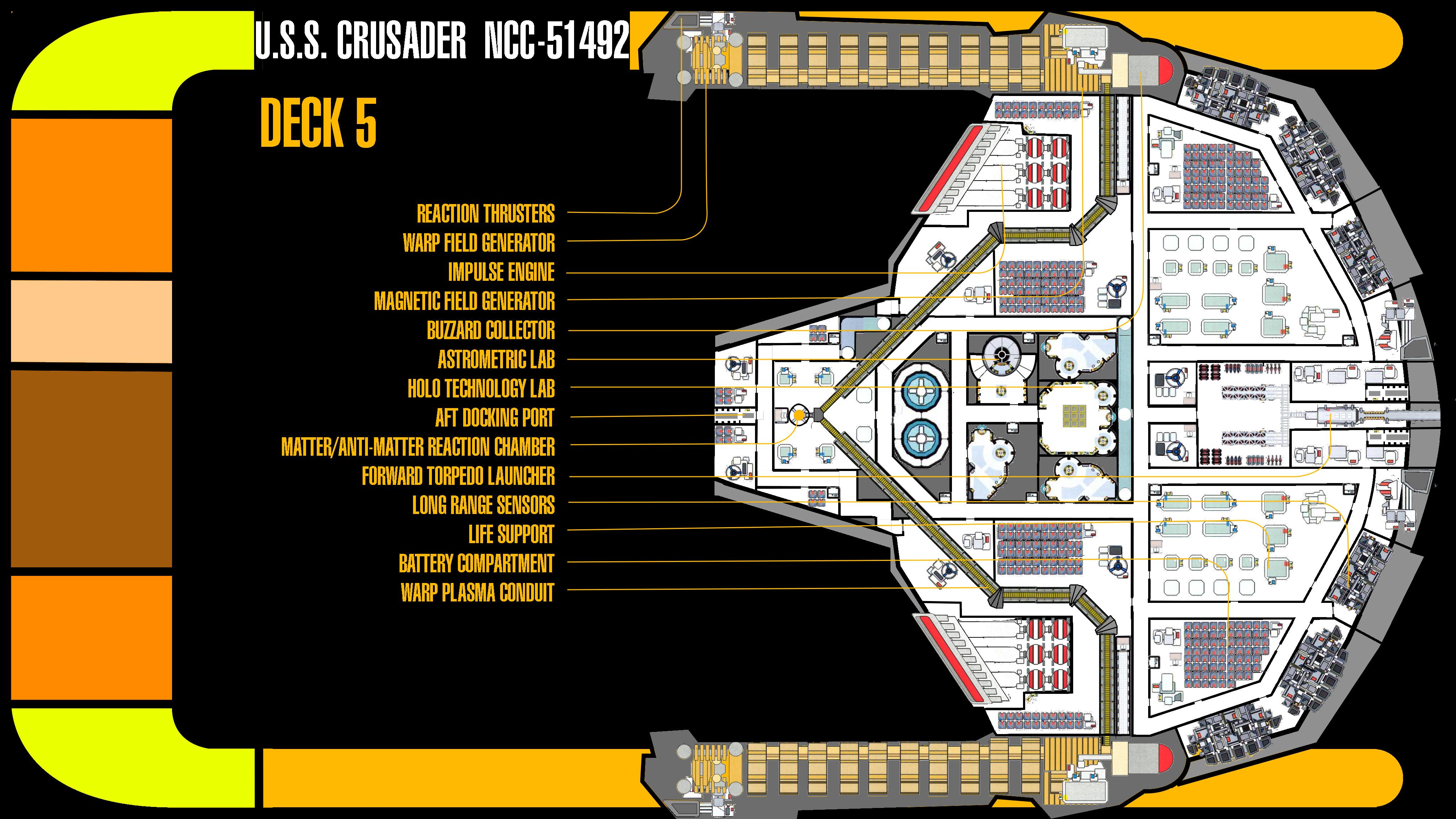 ... U.S.S. Crusader Deck 5 Plans By TrekkieGal