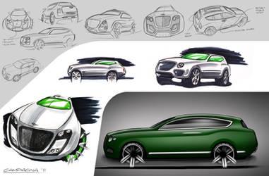 Bentley SUV Sketches