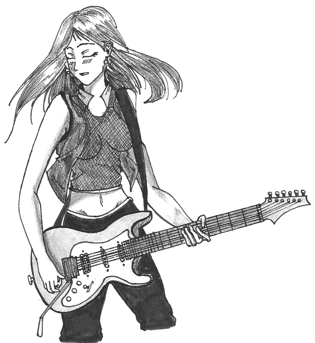 Chica Tocando Guitarra By Francosword On DeviantArt