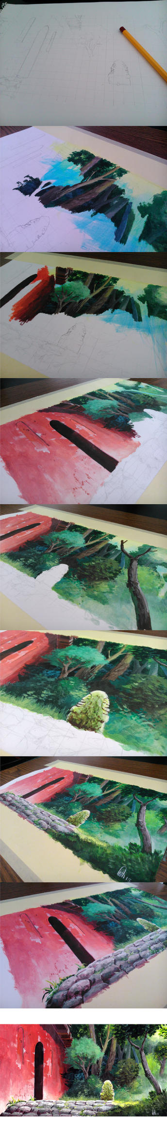 Spirited Away Background study Work phases! by zwillhyper
