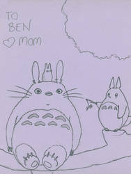 Coloring Page of Totoro