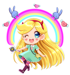 Star Butterfly CHIBI by KARIS-coba