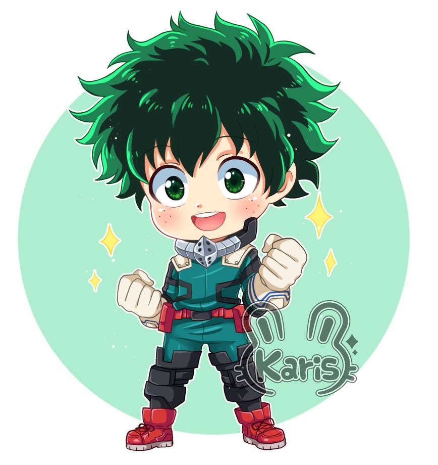 Deku-chibi (Boku No Hero) (speed Paint) By KARIS-coba On