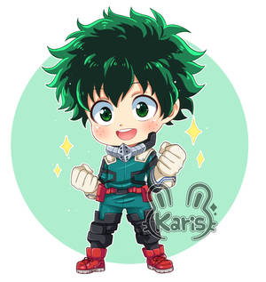 Deku-chibi (Boku No Hero) (speed paint)
