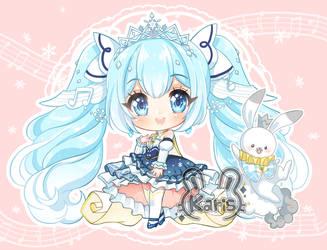 Miku Snow Chibi by KARIS-coba