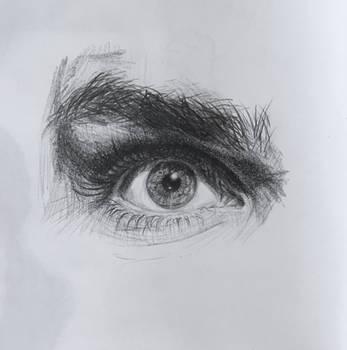 Gerard Way's eye by Kayalina