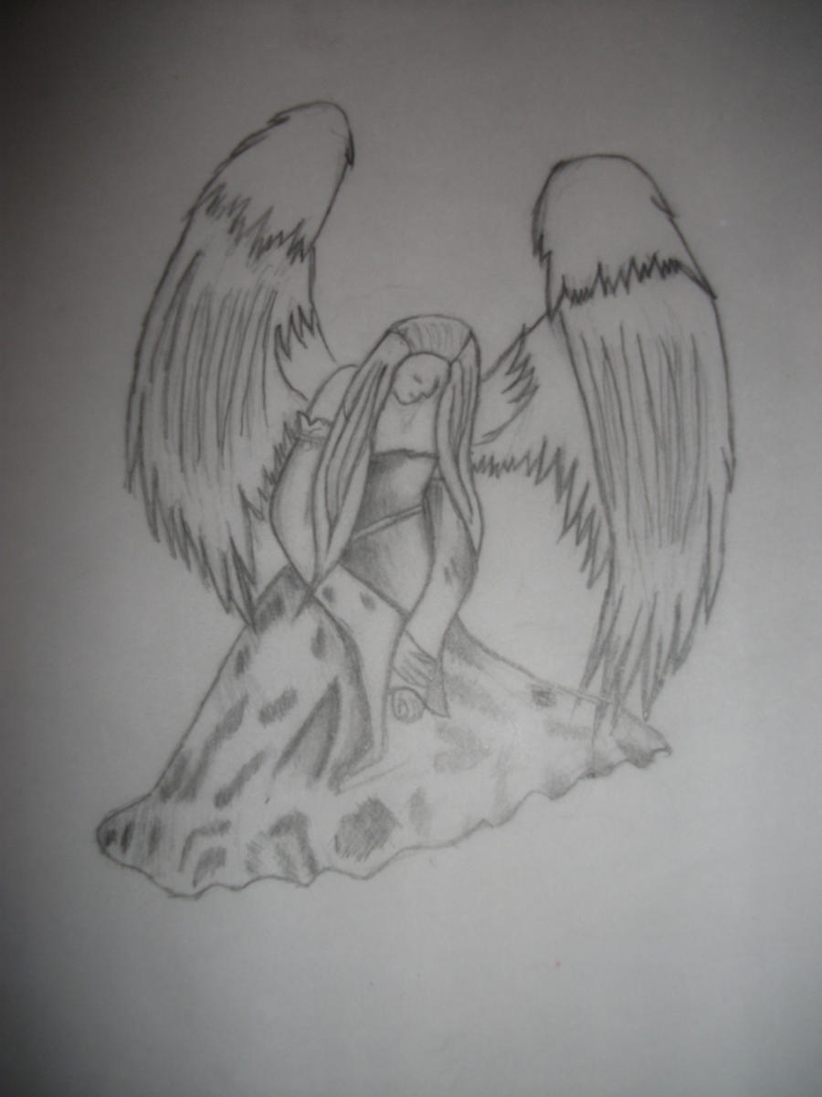 depressed angel drawings - photo #20