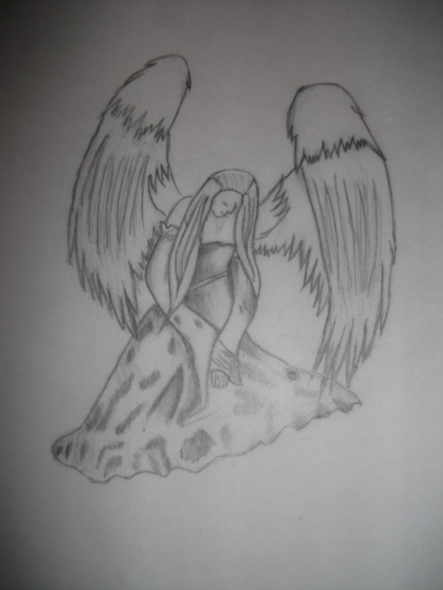 depressed angel drawings - photo #20