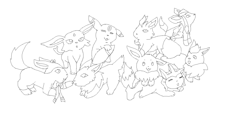 Eevee Evlutions Coloring Pages