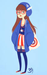 Captain America Hipster Outfit by Cheeky-Bee