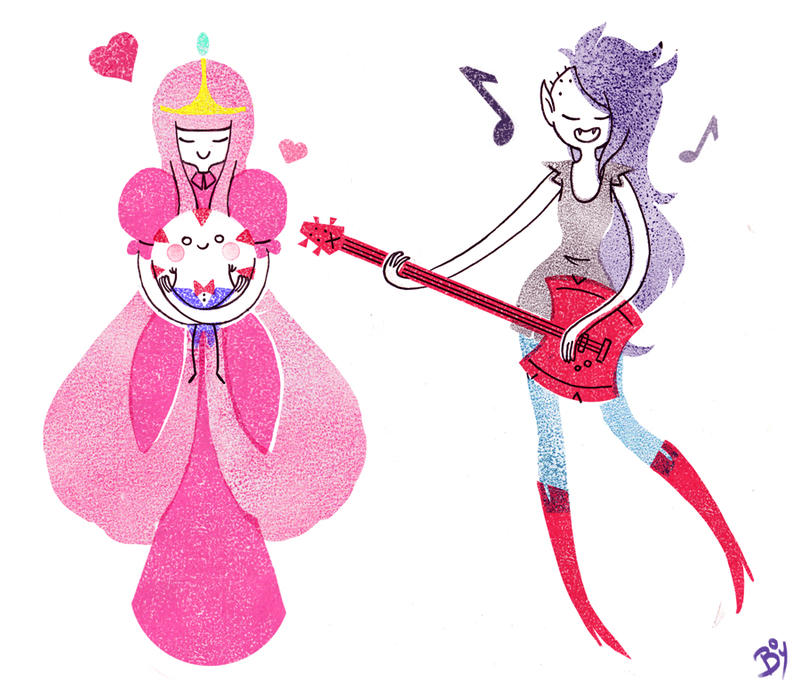 Marceline and Bubblegum by Cheeky-Bee