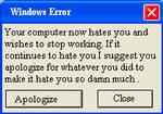 Computer Error Window 1