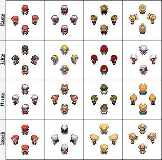 Pokemon Main Character Sprites by Getsuei-H