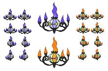 Chandelure Sprites by Getsuei-H