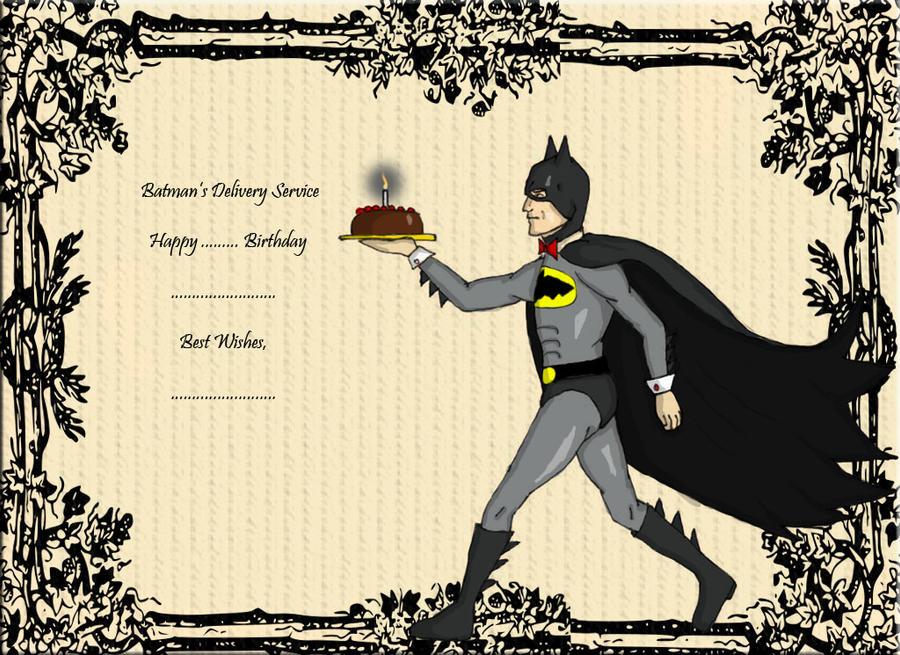 Gallery Batman Birthday Card  Gallery Batman ...