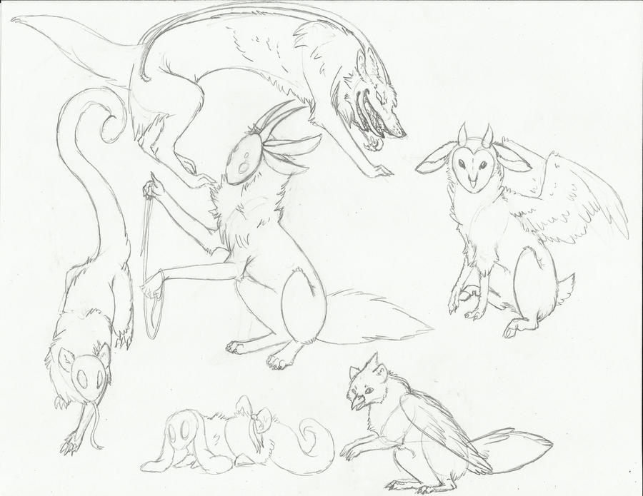 .:Creatures Sketch Dump:.-Items Pending- by LeeOko