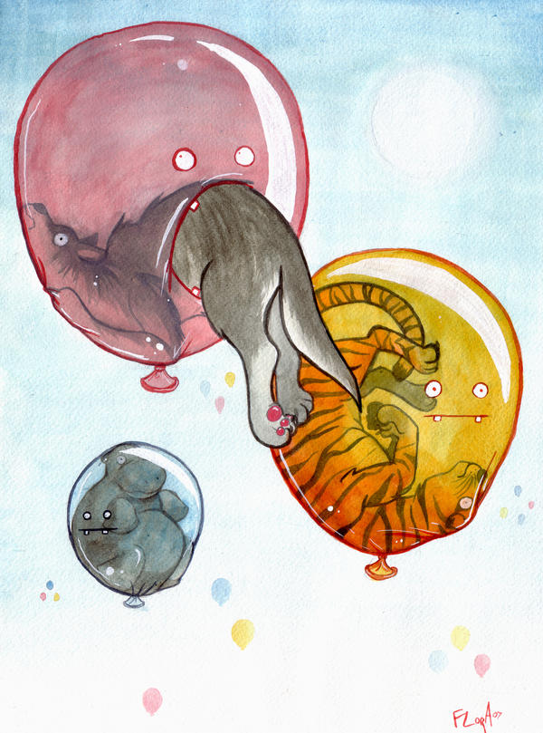 Predatorial Ballons by frowzivitch