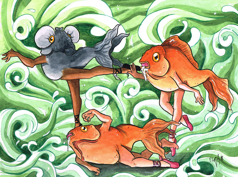 Fish ballet by frowzivitch