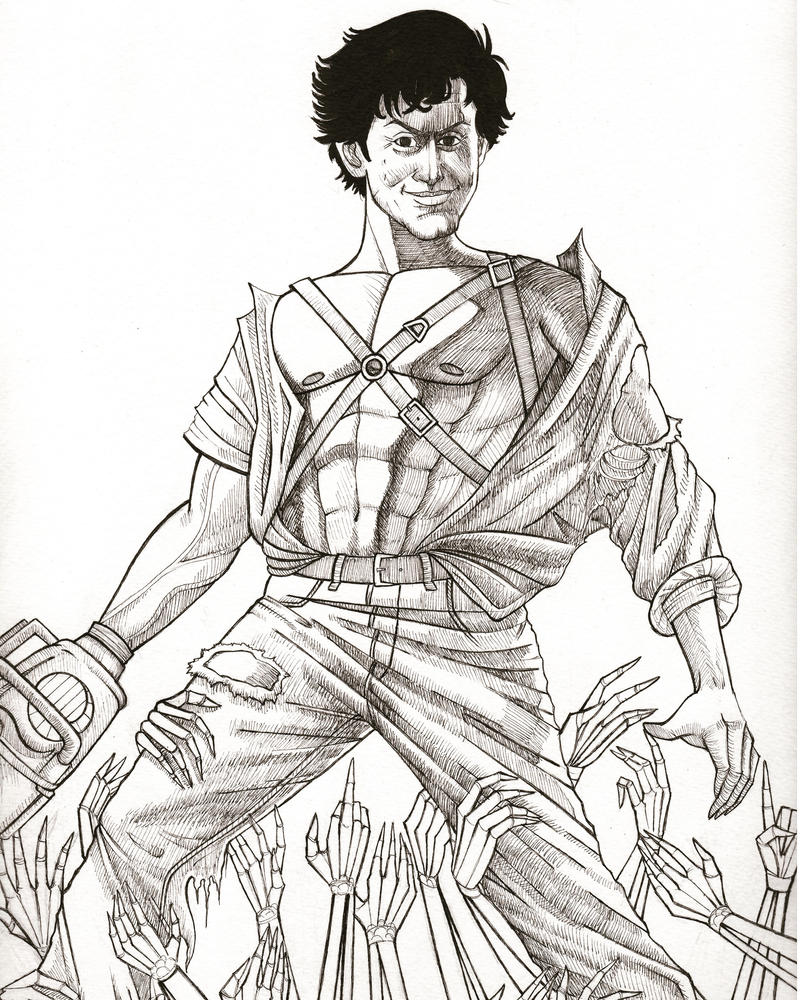 Inktober Day 18- Army of Darkness  by jenc
