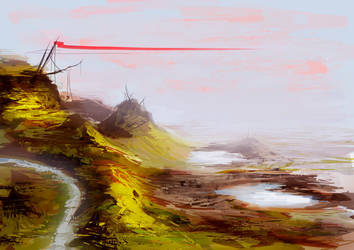 Landscape sketch by Olof-M