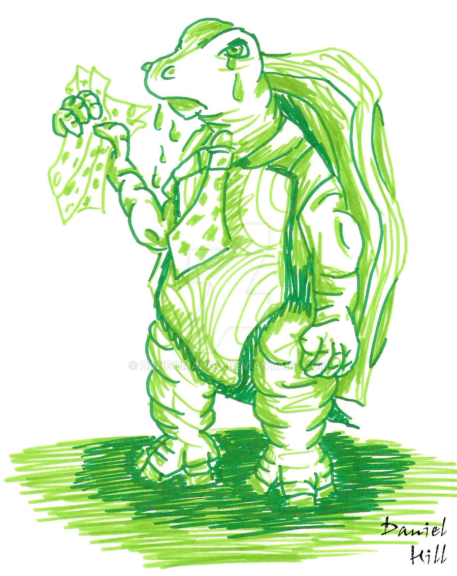 Mock Turtle Colour Sketch by DangoMango on DeviantArt