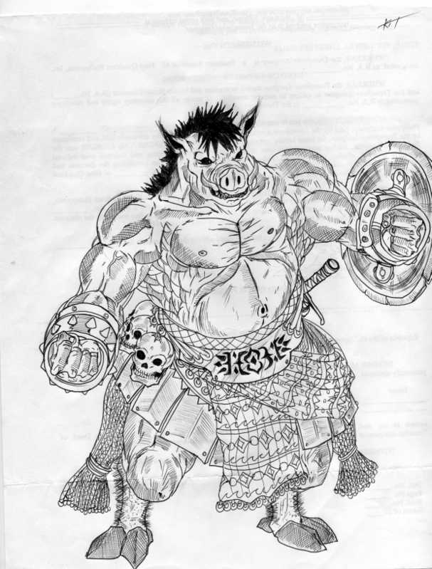 Boar Warrior by Simplykit