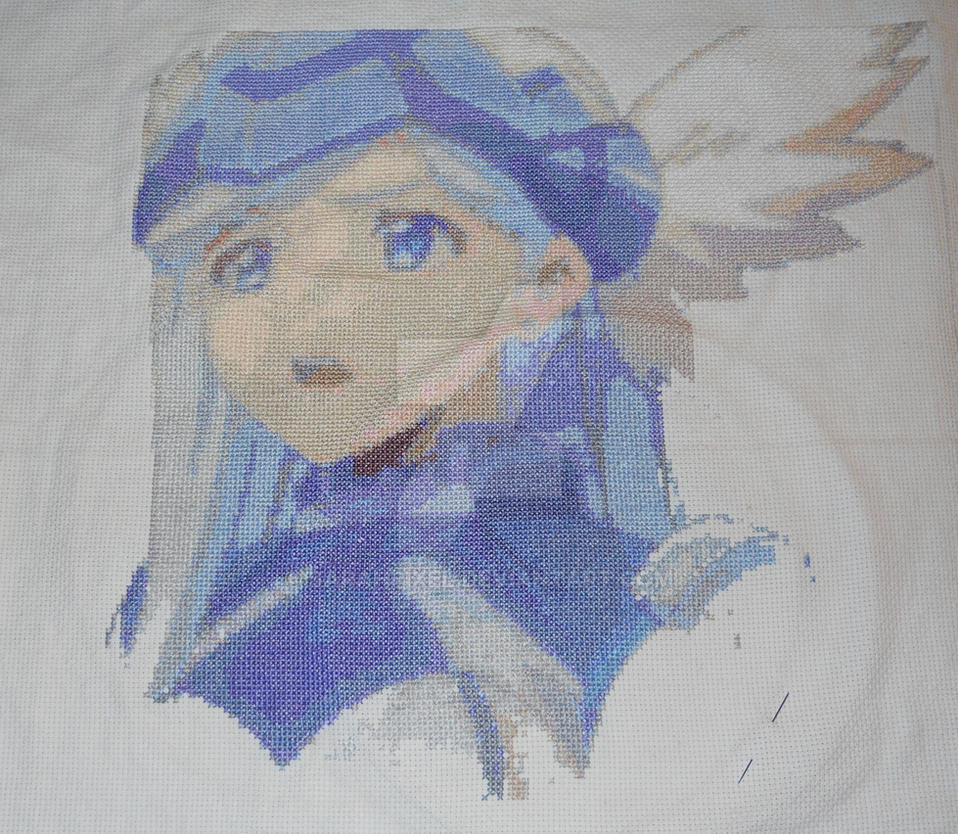 Princess Lunesea Cross Stitch by SarahPixel